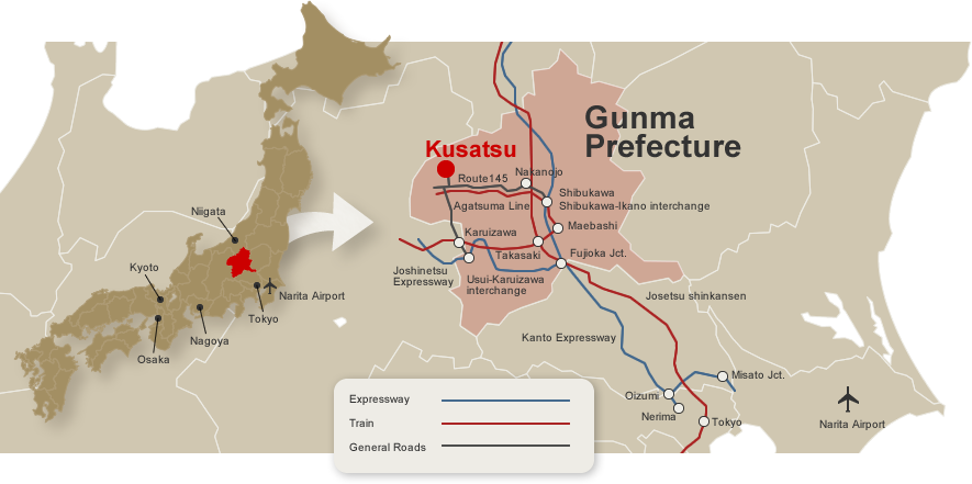 kusatsu map